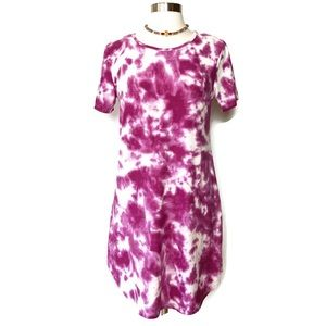 Bobbie Brooks Purple Tie Dye Tee Dress Size Large